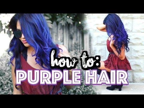 NO BLEACH! How To DYE Your Hair Purple At Home! | Belinda Selene
