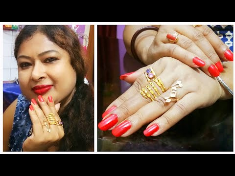 Manicure At Home (Very Easy Process)-How To Grow Nails Quick & Fast- Designs Of My Finger Rings