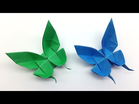 Paper Butterfly making instruction - How to make an origami Butterfly easy step by step