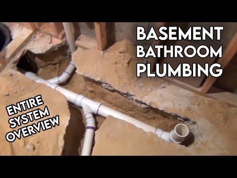 Basement Bathroom Rough In Plumbing Tour
