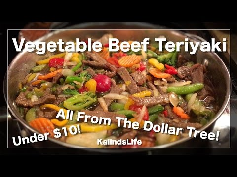 How to make the Best Vegetable Beef Teriyaki Stir Fry Recipe Ever!  All bought at The Dollar Tree!
