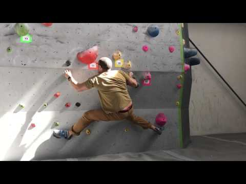 Bouldering V1 problem - Movement Climbing + Fitness Denver - March 12, 2017