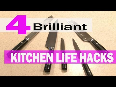 4 Brilliant Kitchen LIFE HACKS!