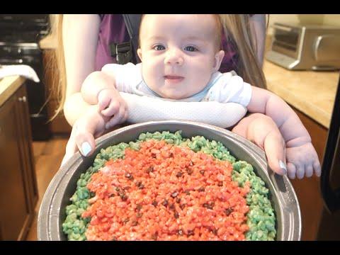 Watermelon Krispie Treats!