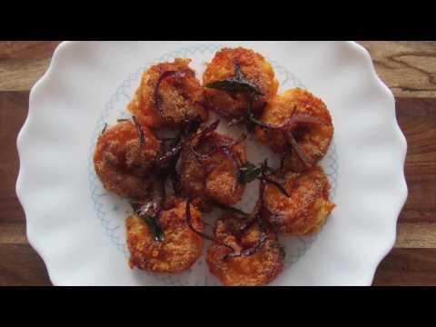 Prawns Rava Fry | Crispy Pan fried Prawns
