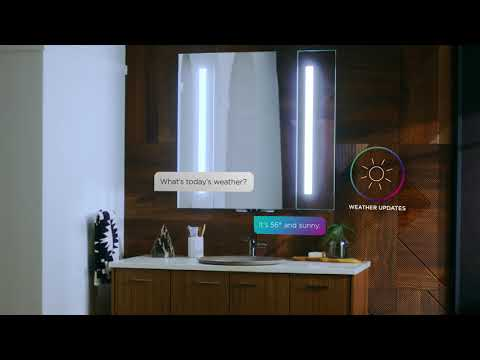 The Verdera Voice Lighted Mirror with Kohler Konnect