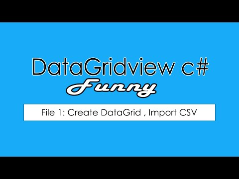 File 01: How to load Csv file import to DataGridView in C# [Win Forms] No Drag Drop