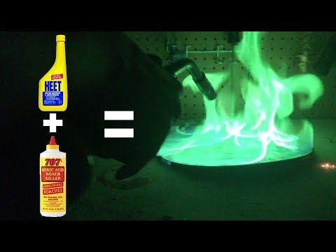 Making Colored Fire With Roach Killer & Antifreeze