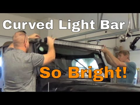 Review Tri-Row Curved  LED Light Bar 50