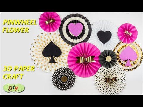 How to Make DIY Paper Rosettes Flowers | Paper Pinwheel | All DIY Club