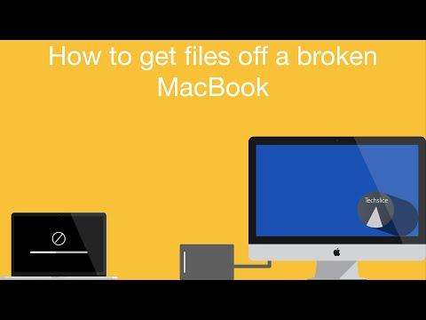 How to get files off a Broken Macbook