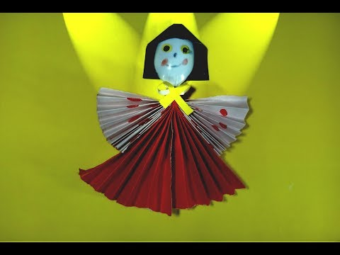 Homemade doll   How to Make Amazing Dancing Doll from plastic spoon   Diy paper craft by TrendyCraft