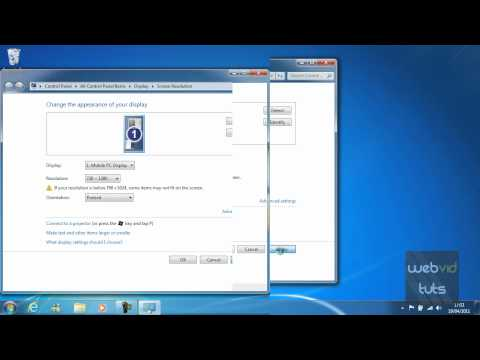 Chapter 1 - Windows 7 - Changing the screen resolution (6)