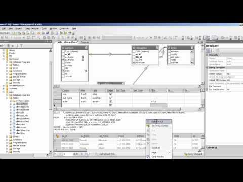 introduction to sql server management studio part 2 - query designer
