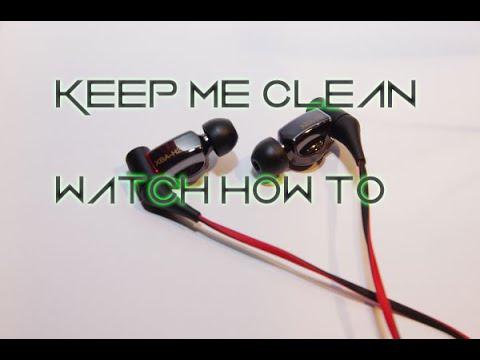 how to clean in ear headphones