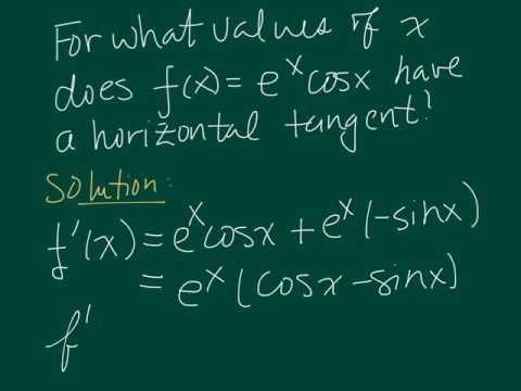 Trig derivative with horizontal tangent
