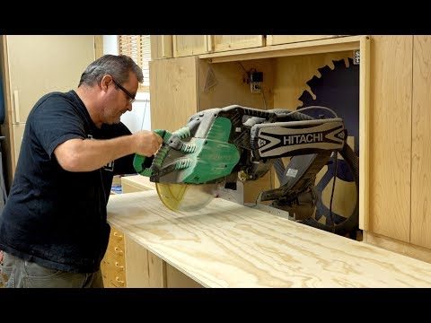 Crosscut A Wide Piece On The Miter Saw