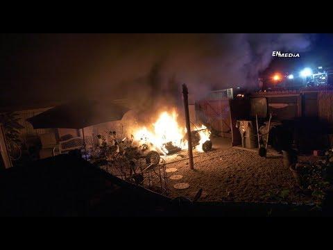 Hemet Backyard Car Fire