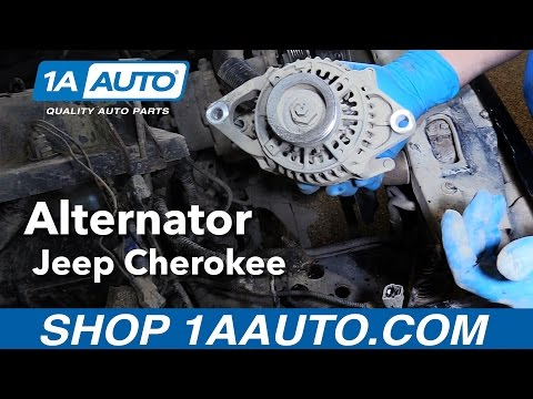 How to Replace Install Alternator 1991-98 Jeep Cherokee Buy Quality Auto Parts from 1AAuto.com