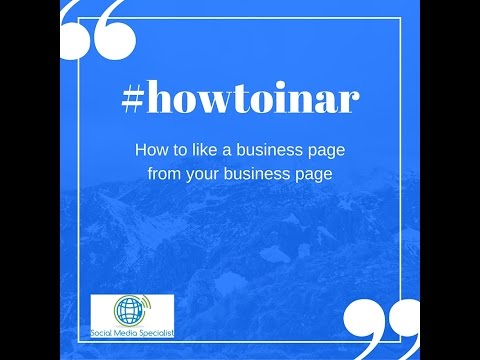 How to like facebook business pages from facebook business page   Howtoinar