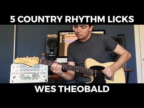 Train Beat Country Rhythm Guitar Lesson - Rhythm Guitar Licks | Wes Theobald