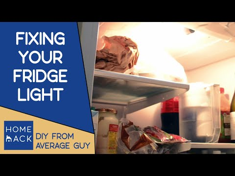 Repair fridge light