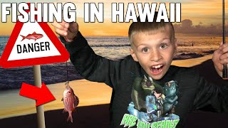 First Time Fishing - Caught Poisonous Red Fish & EEL!    Mommy Monday