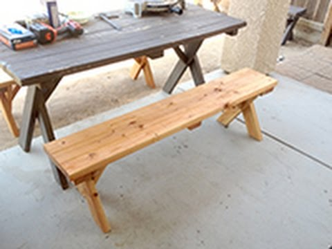 DIY Home made picnic table bench $12-$15