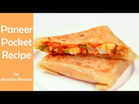 Paneer Pocket Quick Easy Simple Mexican Snacks Recipe By Manisha Bharani