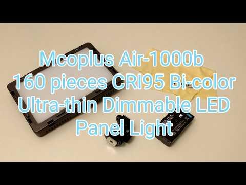 Mcoplus Air-1000b 160pcs CRI95 Bi-color Ultra-thin Dimmable LED Panel