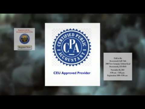 CEU Continuing Education Credits for CPA's in Dayton Ohio