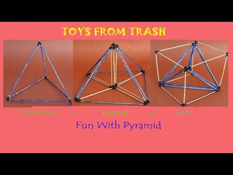 Fun With Pyramid | Cube from Pyramids |  English