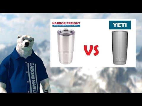 Yeti vs Harbor Freight Tumbler BATTLE! (Hot & Cold)