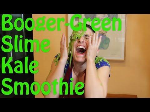 Booger-Green, Slime, Kale Smoothie (Raw, Vegan)