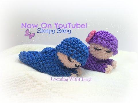 Rainbow Loom Sleepy Baby Doll Loomigurumi Amigurumi Hook Only детка Лумигуруми