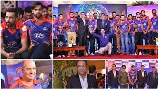 Samaa tv reporter fights with fahad mustafa + Karachi kings kit launch PSL 4 2019 HD