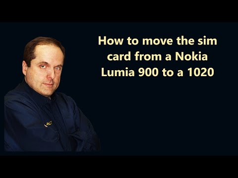How to move the sim card from a Nokia Lumia 900 to a 1020