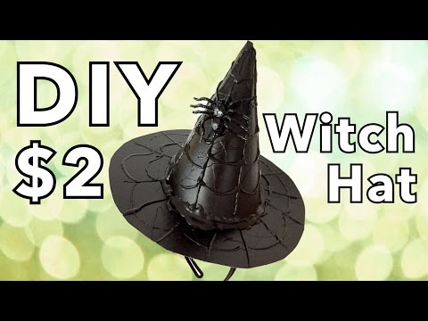 DIY Witch Hat - Cheap and Easy DIY Halloween Costume Accessory