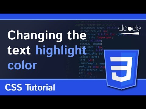 How to change the text highlight color and styles | HTML, CSS Tutorial