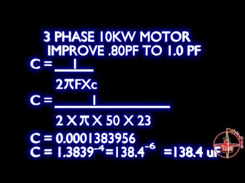 10kw motor 0.80 to 1.0 power factor calculation formula,how to improve power factor type -2