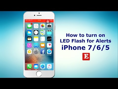 How to turn on / enable LED Flash for Alerts in  iPhone 7/6/5 when incoming call
