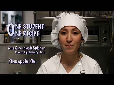 One Student, One Recipe - Pineapple Pie