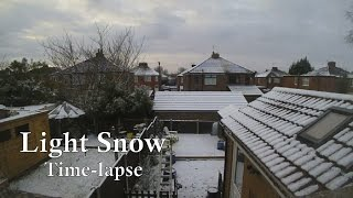 Light Snow Time-lapse - Manchester, UK - 16-17 January 2016