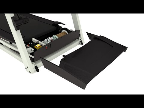 Removing the Motor Hood - Treadmill