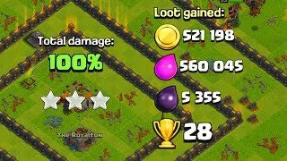 THIS ATTACK IS WAY TOO STRONG TH9 Dark Elixir Time   Clash of Clans