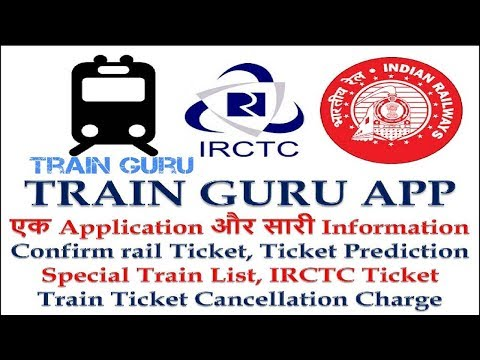 Confirm rail Ticket Prediction, Special Train List, IRCTC Ticket Train Ticket Cancellation Charge