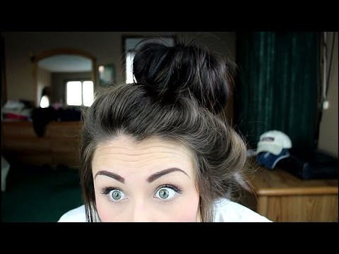 HOW TO: Perfect Bun For REALLY Thick Hair!