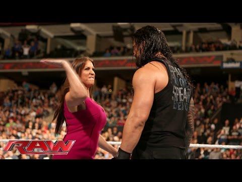 Xxx Mp4 Stephanie McMahon Is Furious With Roman Reigns Raw December 14 2015 3gp Sex