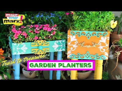 Trash To Treasure Garden Planters