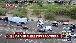 Driver arrested in Tempe after highway pursuit